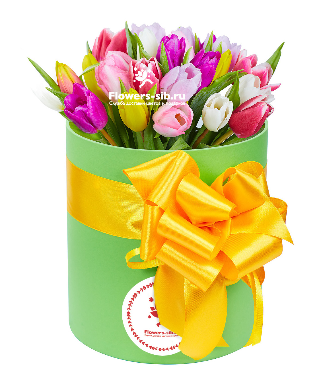 Box with tulips at the price 4570 - delivery of bouquets flowers and ...